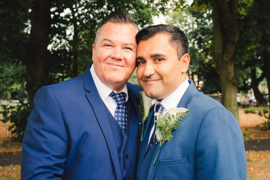 grooms portraits London Wedding