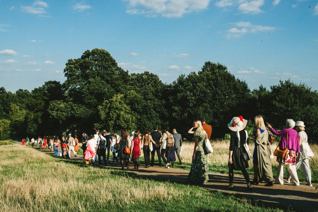 Hamstead Heath walk wedding