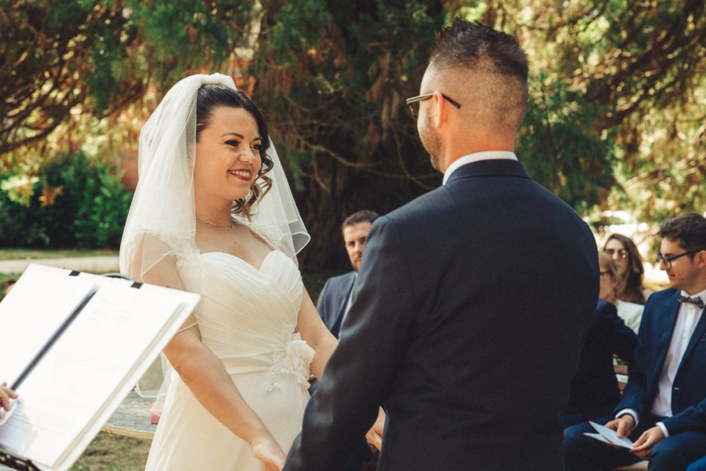 Wedding ceremony at Chateau Saint Michel South of France