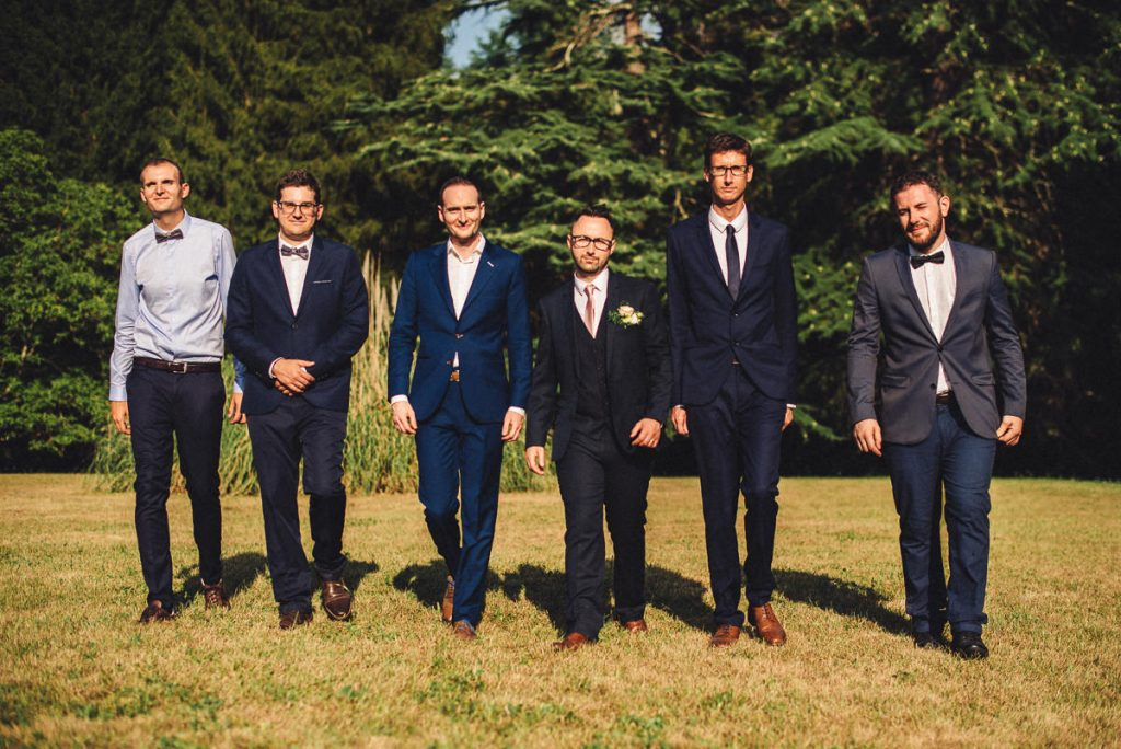 Groom and best men at Chateau Saint Michel South of France