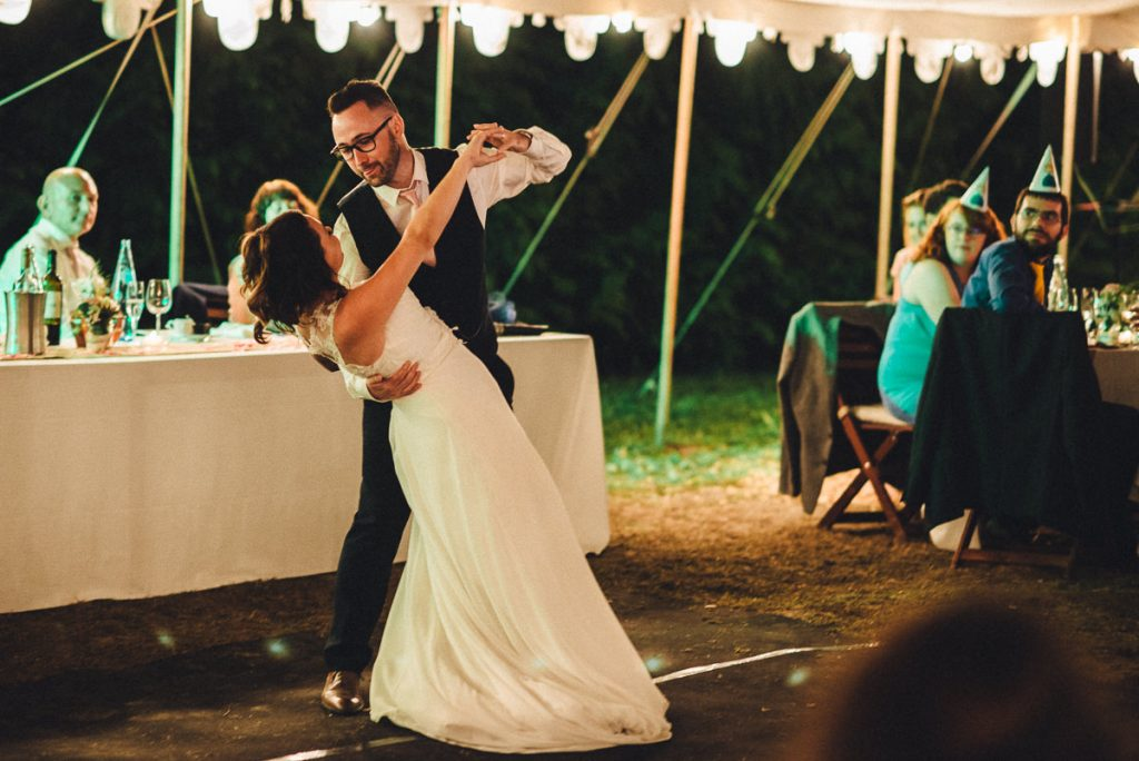 Emily and Florent First dance married couple at wedding Chateau Saint Michel South of France