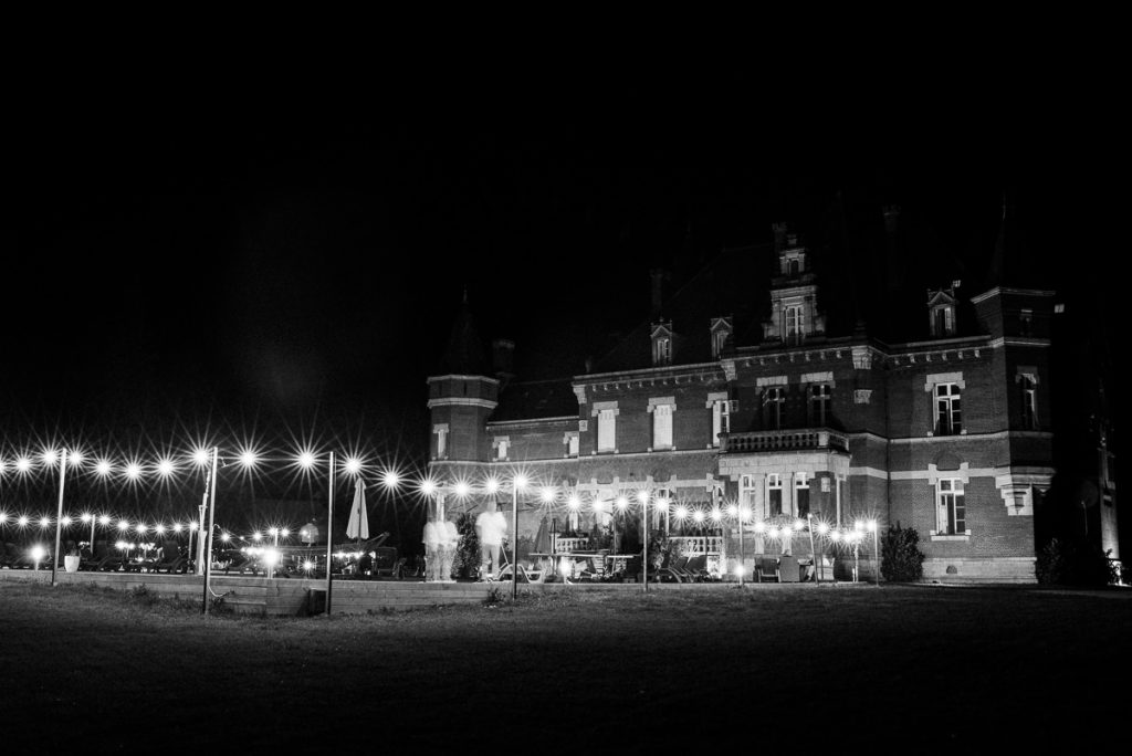 Chateau Saint Michel South of France at night